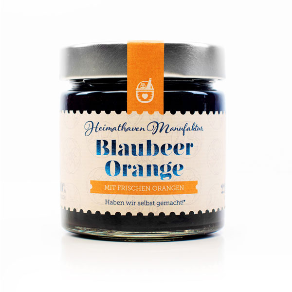 Blaubeer Orange Fruchtaufstrich / 225g