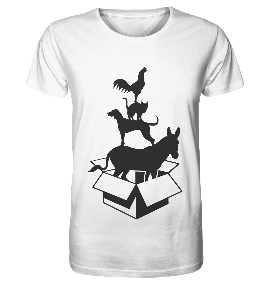 """""""out of the box"""" - Organic Shirt (weiß)"""