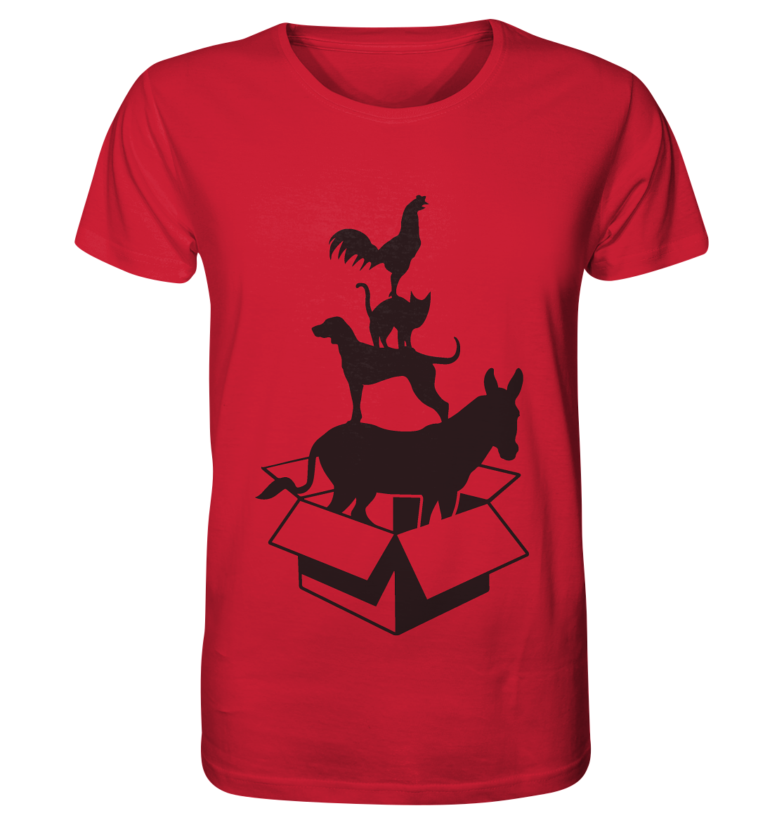 """""""out of the box"""" - Organic Shirt (rot)"""